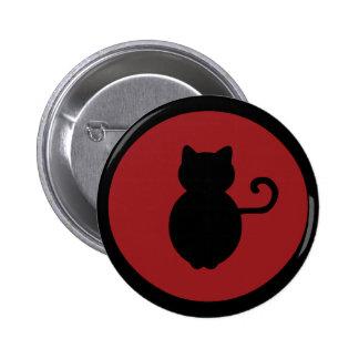 Cat Signal Silhouette Pinback Button