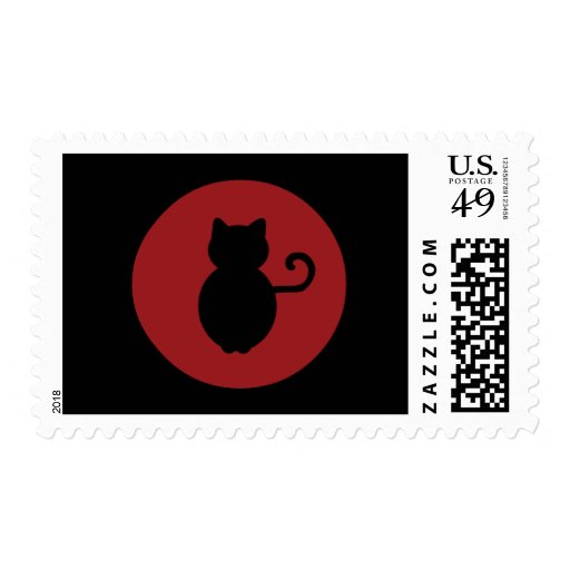 Cat Signal Silhouette Postage Stamps