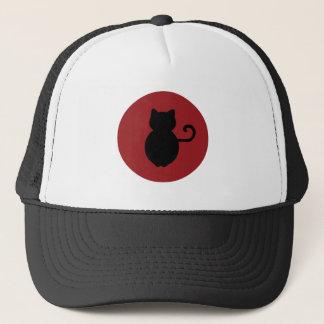 Cat Signal Silhouette Trucker Hat