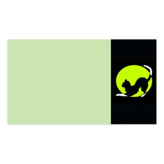 Cat Silhouette Business Card