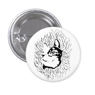 Cat Silhouette Button