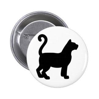 Cat Silhouette 2 Inch Round Button