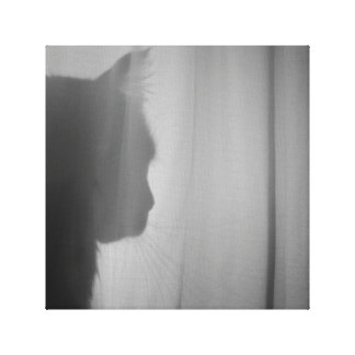 Cat silhouette canvas print