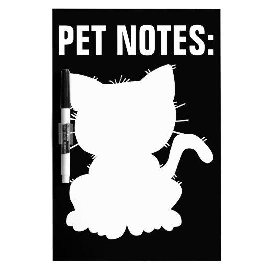Cat Silhouette Dry-Erase Board