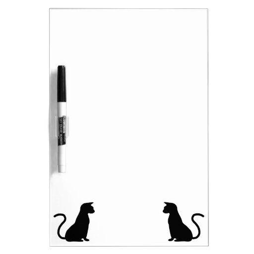 Cat Silhouette Dry Erase Whiteboards