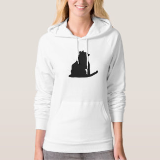Cat Silhouette Hooded Pullover