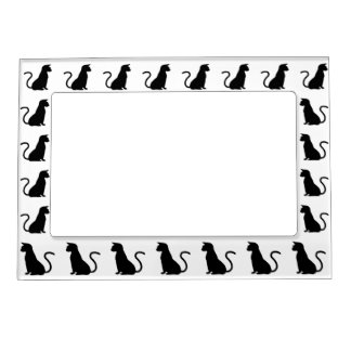Cat Silhouette Photo Frame Magnet
