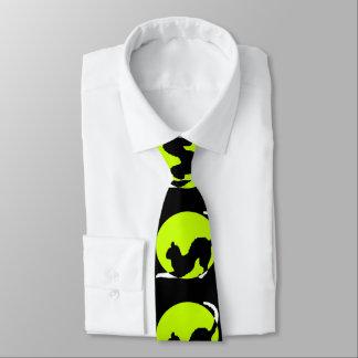 Cat Silhouette Neck Tie