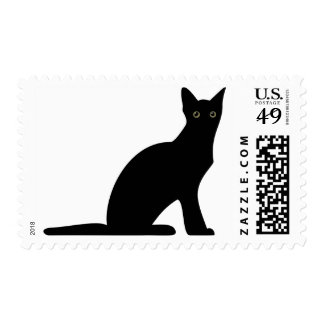 Cat Silhouette Postage