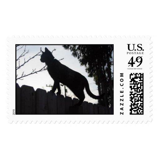"""Cat Silhouette"" stamp"