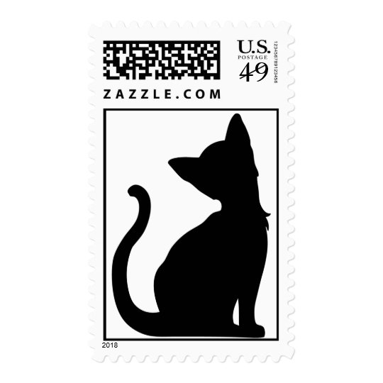 Cat Silhouette Stamps