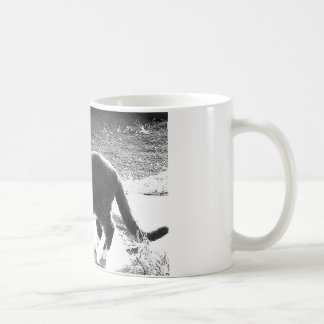 cat silhouette standing coffee mug