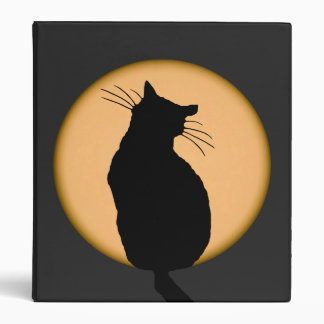 Cat Silhouetted Against the Rising Moon Binder
