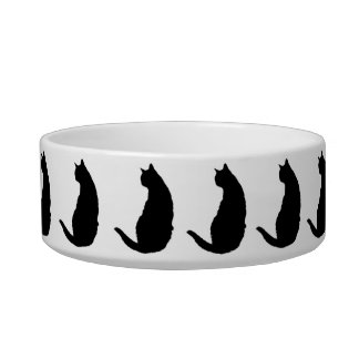 Cat Silhouettes Bowl