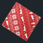 """Cat Silhouettes Christmas Sweater Style Pattern Bandana<br><div class=""""desc"""">Festive Holiday Pattern for Cats and Cat Lovers</div>"""