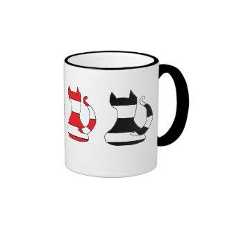 cat sillouette mug