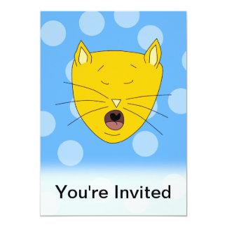 Cat Singing. Card