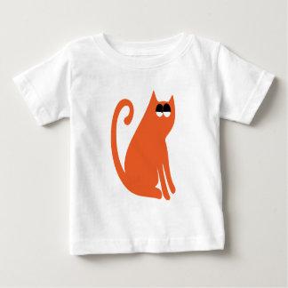 Cat Sit And Look Back Orange Satisfied Smug Eyes T-shirts