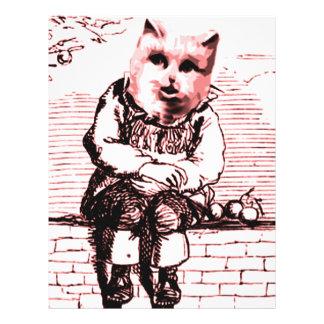 Cat Sits Customized Letterhead