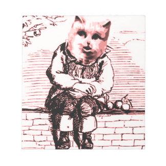 Cat Sits Memo Pad