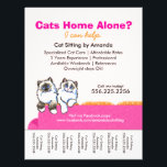 """Cat Sitter Ad Ragdoll Pink Couch Tear Sheet<br><div class=""""desc"""">Click Read More to see coordinating products. Promote your cat sitting business with these full color eye-catching flyers that you personalize with your own info. Original design by Andie, illustrator and creator of Off-Leash Art™, featuring her hand drawn Ragdoll illustration on bright pink couch. All text and background color are...</div>"""