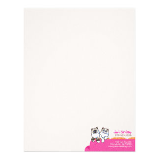 Cat Sitter Ragdoll Couch Pink Business Form Sm Letterhead