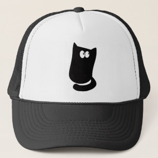 Cat Sitting Bundle Black Look Up There Eyes Trucker Hat