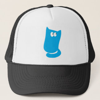 Cat Sitting Bundle Blue Look Up There Eyes Trucker Hat