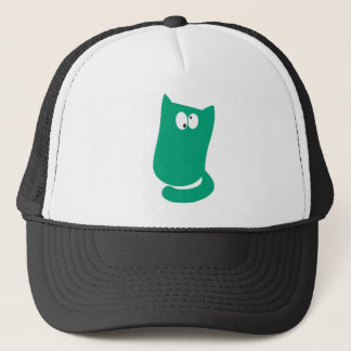 Cat Sitting Bundle Green Topsy Turvey Eyes Trucker Hat