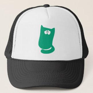 Cat Sitting Bundle Green Vulnarable Eyes Trucker Hat