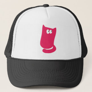 Cat Sitting Bundle Pink Look Up There Eyes Trucker Hat