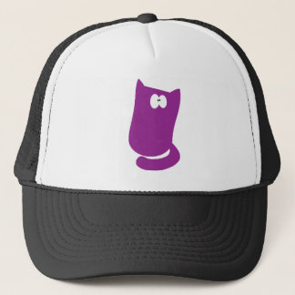Cat Sitting Bundle Purple Wtf Eyes Trucker Hat
