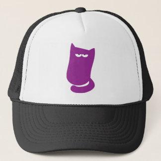 Cat Sitting Bundle Purple Yeah Right Eyes Trucker Hat