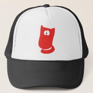 Cat Sitting Bundle Red Huhh Eyes Trucker Hat