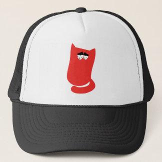 Cat Sitting Bundle Red So Tired Eyes Trucker Hat