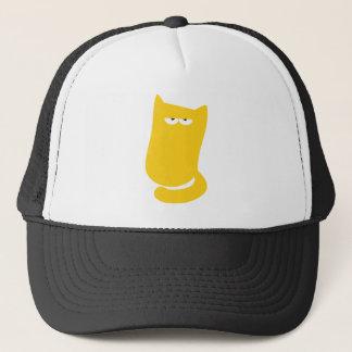 Cat Sitting Bundle Yellow Yeah Right Eyes Trucker Hat