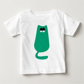 Cat Sitting Green Satisfied Smug Eyes Tshirts