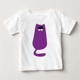 Cat Sitting Purple Satisfied Smug Eyes Tees