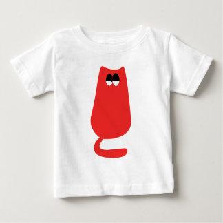 Cat Sitting Red Satisfied Smug Eyes Shirts