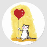 Cat Sitting with Balloon Stickers