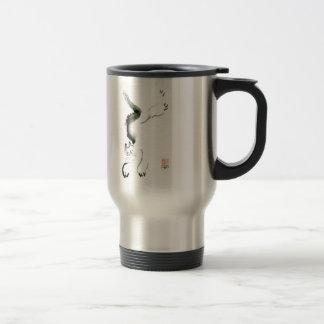 Cat Skedaddle, Sumi-e cat Travel Mug