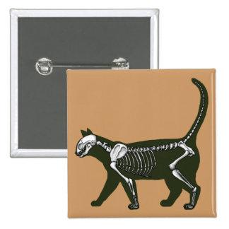 Cat Skeleton Pinback Button