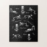 "Cat skeleton puzzle<br><div class=""desc"">Cat skeletons playing on a black background.</div>"
