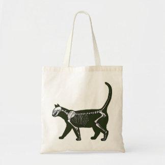 Cat Skeleton Tote Bag
