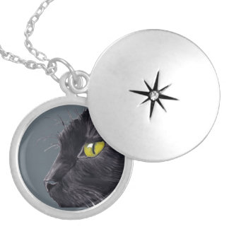 Cat Sketch Charm Necklace