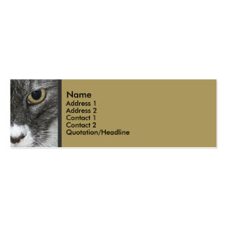 Cat Skinny Profile Card Double-Sided Mini Business Cards (Pack Of 20)