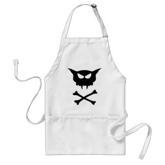 Cat Skull Adult Apron