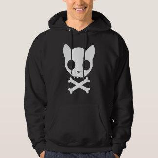 Cat Skull and Crossbones Hoodie