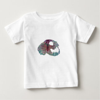 cat skull art baby T-Shirt