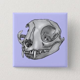 cat skull button